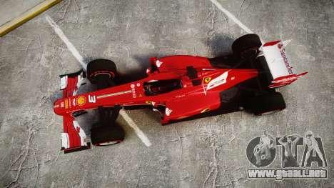 Ferrari F138 v2.0 [RIV] Alonso TSSD para GTA 4 visión correcta
