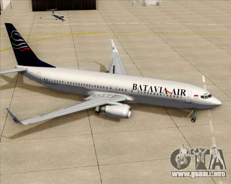 Boeing 737-800 Batavia Air para las ruedas de GTA San Andreas