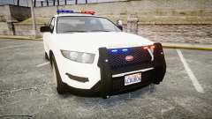 GTA V Vapid Interceptor LSS White [ELS] para GTA 4