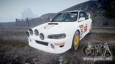 Subaru Impreza WRC 1998 SA Competio v3.0 para GTA 4