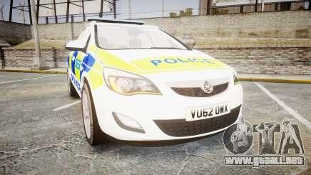 Vauxhall Astra Estate Metropolitan Police [ELS] para GTA 4