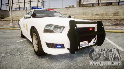 GTA V Bravado Buffalo LS Sheriff White [ELS] para GTA 4