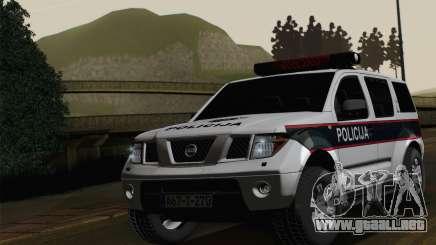 Nissan Pathfinder Policija para GTA San Andreas