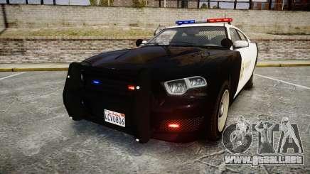 GTA V Bravado Buffalo LS Sheriff Black [ELS] para GTA 4