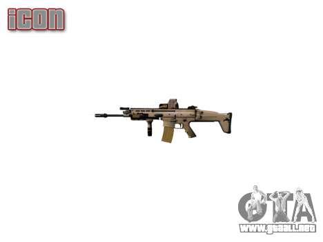 Máquina FN CICATRIZ-L Mc 16 de destino icon2 para GTA 4 adelante de pantalla