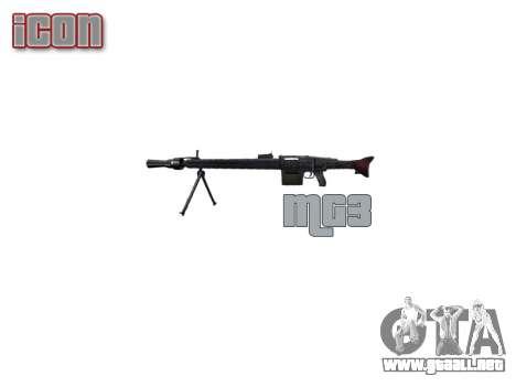 Alemán ametralladora MG3 icon3 para GTA 4 tercera pantalla