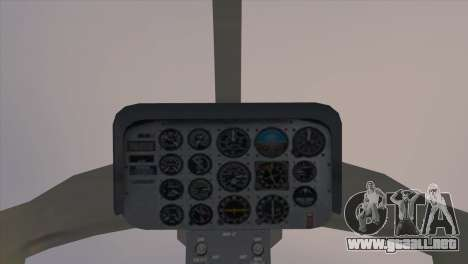 Bell 407 para GTA San Andreas vista posterior izquierda