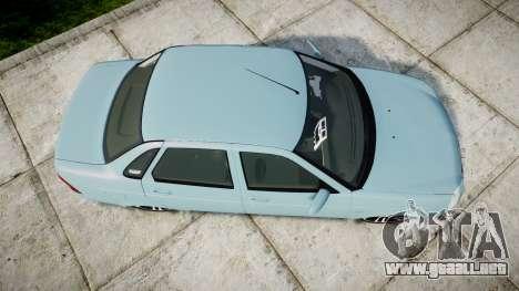 ВАЗ-Lada 2170 Priora Sapara para GTA 4 visión correcta