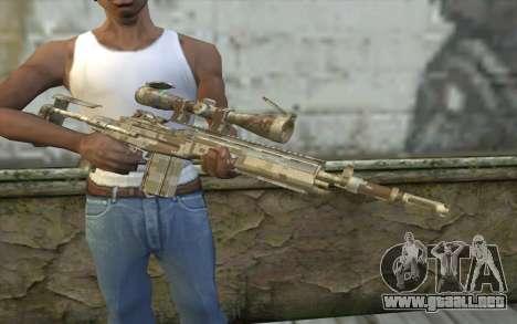 M14 EBR Digidesert para GTA San Andreas tercera pantalla