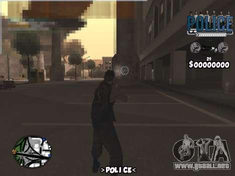 C-Hud Police para GTA San Andreas segunda pantalla