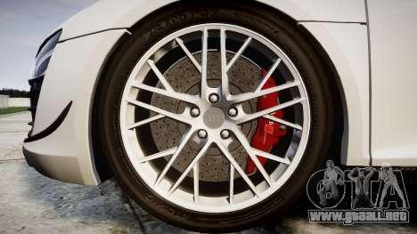Audi R8 LMX 2015 [EPM] Carbon Series para GTA 4 vista hacia atrás