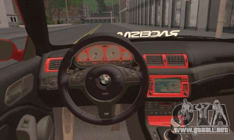 BMW M3 Coupe Tuned para GTA San Andreas vista posterior izquierda
