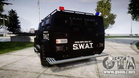 SWAT Van para GTA 4 Vista posterior izquierda