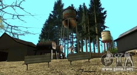 El Altruista campamento en el monte Chiliad para GTA San Andreas décimo de pantalla