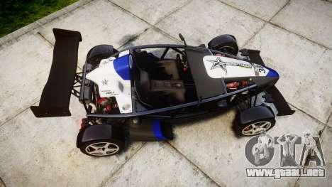 Ariel Atom V8 2010 [RIV] v1.1 Sheriftizer para GTA 4 visión correcta