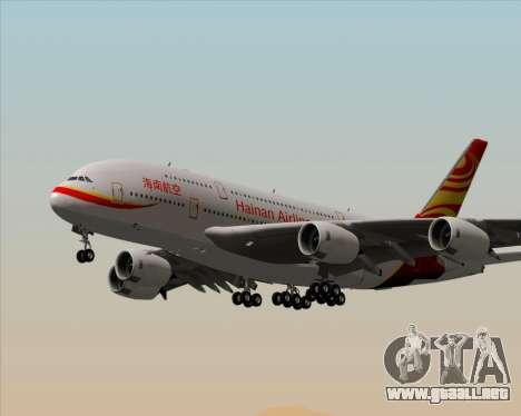 Airbus A380-800 Hainan Airlines para las ruedas de GTA San Andreas