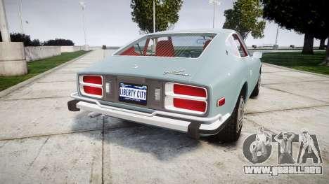 Datsun 260Z 1974 para GTA 4 Vista posterior izquierda