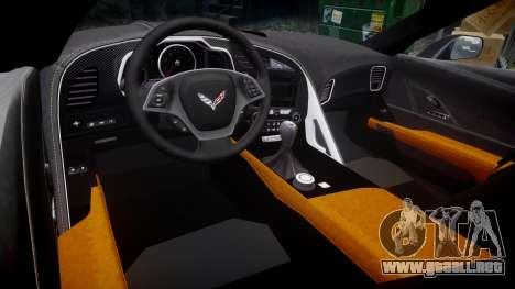 Chevrolet Corvette C7 Stingray 2014 v2.0 TireMi2 para GTA 4 vista interior