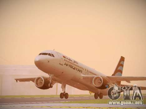 Airbus A320-214 Afriqiyah Airways para GTA San Andreas left
