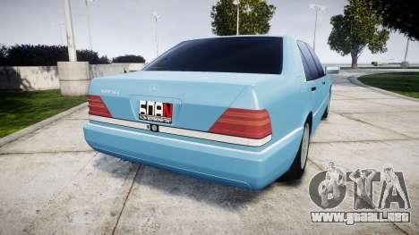 Mercedes-Benz 600SEL W140 para GTA 4 Vista posterior izquierda