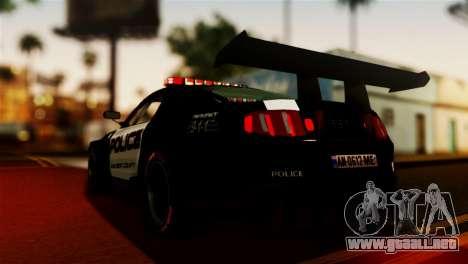 Ford Mustang GT-R Police para GTA San Andreas left