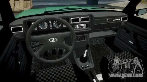 VAZ-2107 inferior para GTA 4 vista hacia atrás