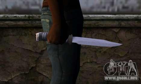 Cuchillo largo para GTA San Andreas tercera pantalla