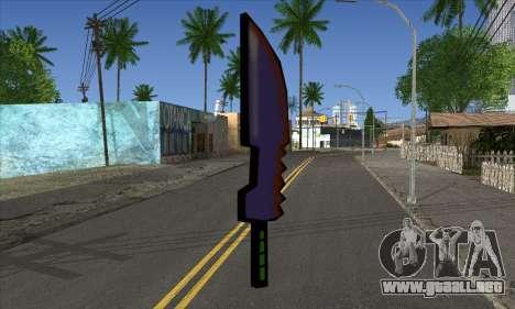 De dibujos animados de la espada para GTA San Andreas segunda pantalla