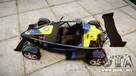 Ariel Atom V8 2010 [RIV] v1.1 Petrolos para GTA 4 visión correcta