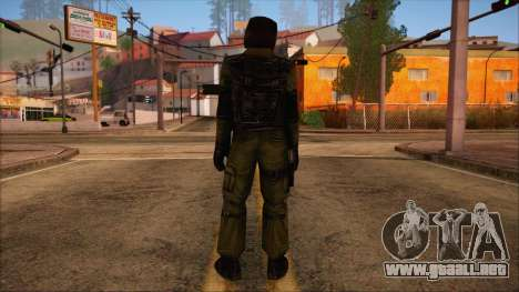 Urban from Counter Strike Condition Zero para GTA San Andreas segunda pantalla