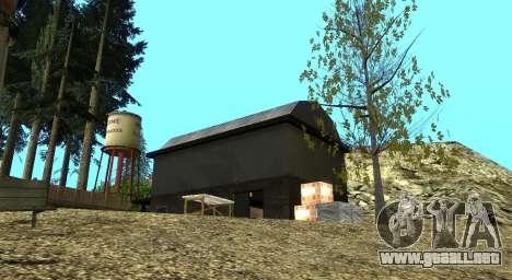 El Altruista campamento en el monte Chiliad para GTA San Andreas octavo de pantalla
