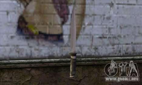 Cuchillo largo para GTA San Andreas