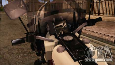 GTA 5 Police Bike para GTA San Andreas vista posterior izquierda