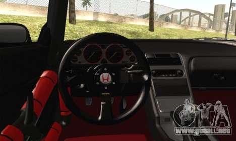 Honda NSX para GTA San Andreas vista posterior izquierda