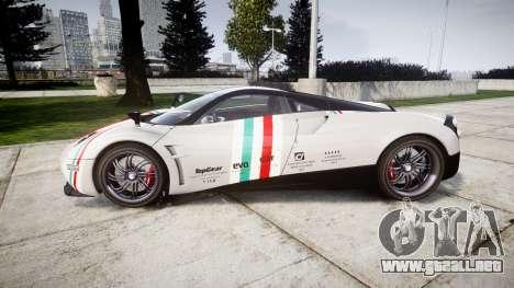 Pagani Huayra 2013 para GTA 4 left