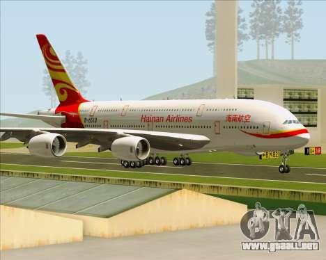 Airbus A380-800 Hainan Airlines para visión interna GTA San Andreas