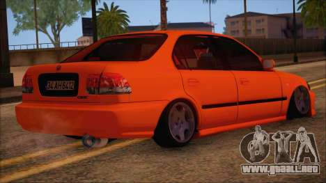 Honda Civic 34 AH 6412 para GTA San Andreas left