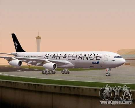 Airbus A340-300 All Nippon Airways (ANA) para la vista superior GTA San Andreas