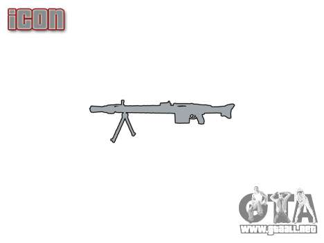 Alemán ametralladora MG3 icon1 para GTA 4 tercera pantalla