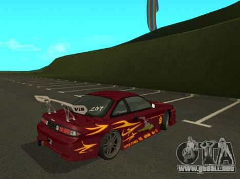 Nissan 200SX FnF1 (Letty car) para GTA San Andreas vista posterior izquierda