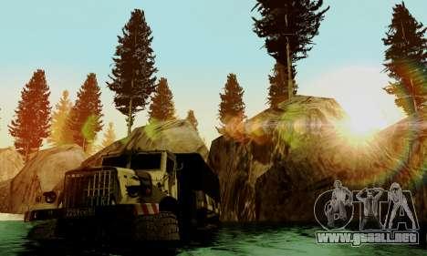 Pista de off-road 4.0 para GTA San Andreas sucesivamente de pantalla