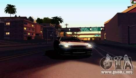 ENB para equipos débiles para GTA San Andreas sucesivamente de pantalla