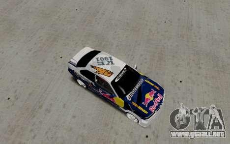 BMW E36 Red Bull para GTA San Andreas vista posterior izquierda