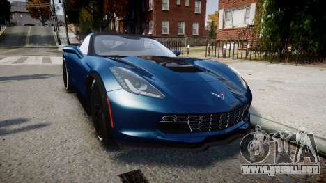 Chevrolet Corvette Z06 2015 TireBr3 para GTA 4
