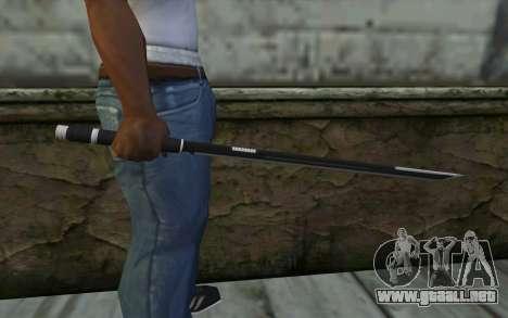 Katana from Deadpool para GTA San Andreas tercera pantalla