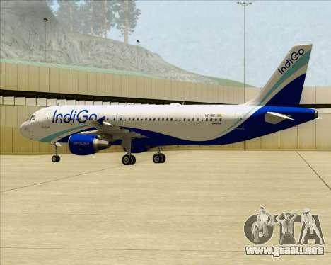 Airbus A320-200 IndiGo para visión interna GTA San Andreas