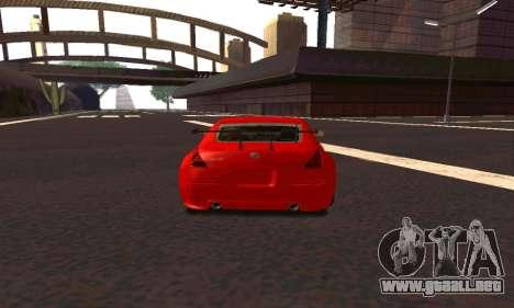 Nissan 350Z Tune para la visión correcta GTA San Andreas