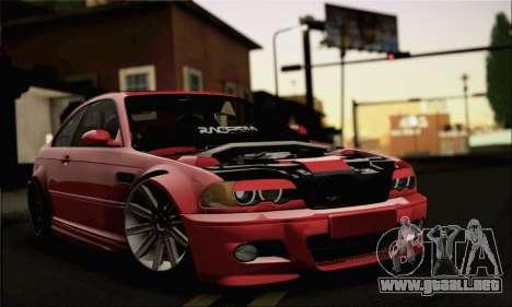 BMW M3 Coupe Tuned Version Burnout para GTA San Andreas