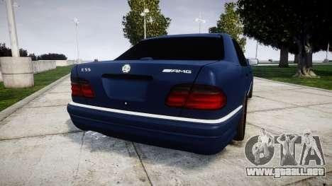 Mercedes-Benz W210 E55 2000 AMG Vossen VVS CVT para GTA 4 Vista posterior izquierda