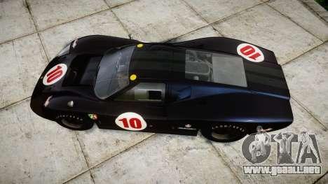 Ford GT40 Mark IV 1967 PJ Scuderia Westfalia 10 para GTA 4 visión correcta